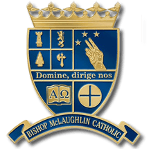 Bishop McLaughlin Catholic High School Crest