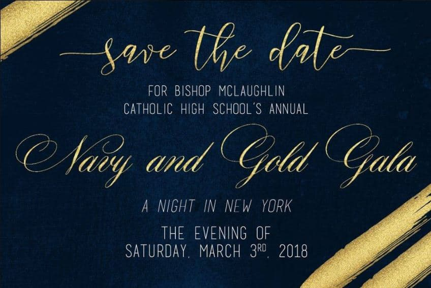 """Navy and Gold Gala """"A Night in New York"""""""