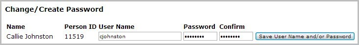 RenWeb Change Create Password